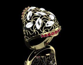 3D Fashion ring gold