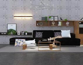Sofa set 5 3D room