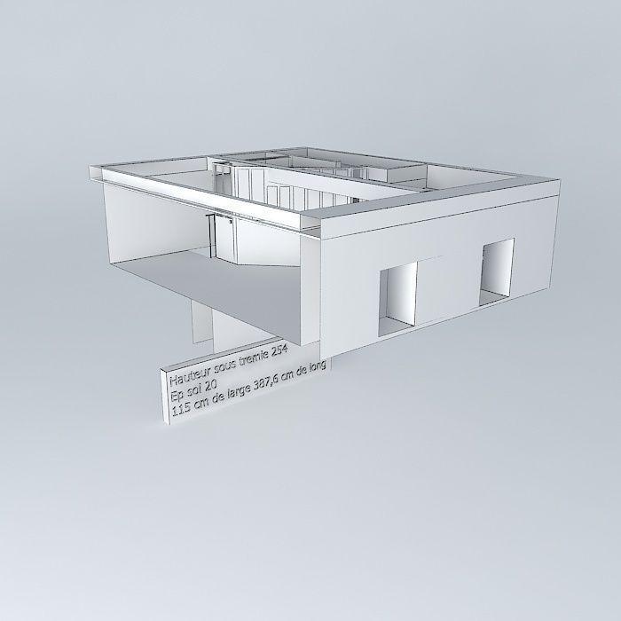 a house in vendee 1 floor 3d model max obj 3ds fbx stl dae. Black Bedroom Furniture Sets. Home Design Ideas