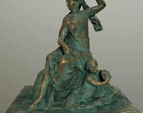 gold statue 3D asset