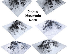 Snowy Mountain Pack 3D model