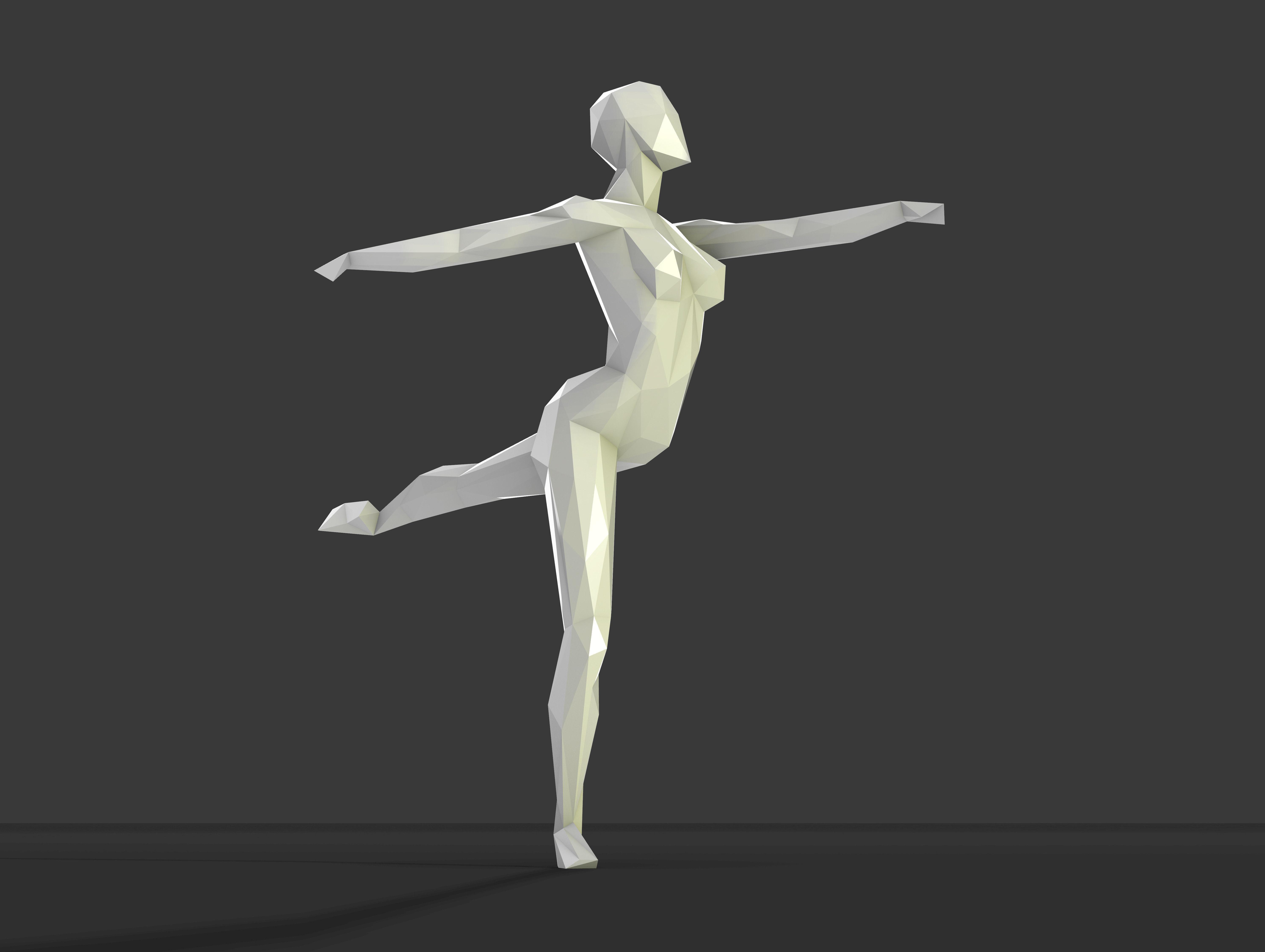Dancing figure 2 low poly