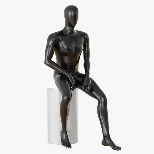 faceless sitting male mannequin 22 3d model max obj mtl 3ds fbx c4d dxf 1