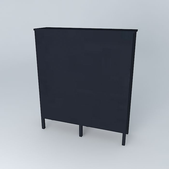 hutch edison maisons du monde 3d model max obj 3ds fbx stl dae. Black Bedroom Furniture Sets. Home Design Ideas