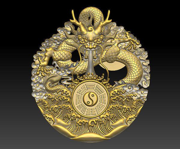 dragon and tai chi 3d model obj mtl stl 1