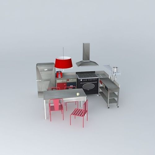 Industrial Kitchen 3d Model: Industrial Small Kitchen Houses The World 3D Model .max