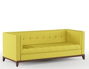 3D model comfort Yellow Sofa