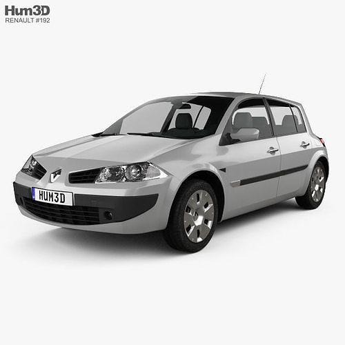 renault megane 5-door hatchback 2006 3d model max obj mtl 3ds fbx c4d lwo lw lws 1