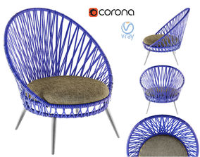 3D Mindo Usa Panna Lounge Armchair
