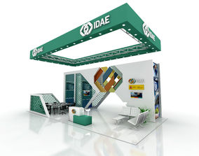Exhibition Stand 12x6 3D asset