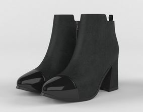 High Heels Women Boots 3D