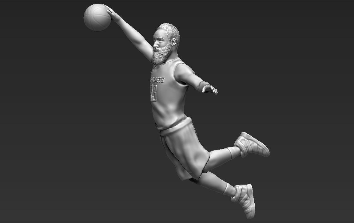 James Harden 3D printing ready stl obj formats