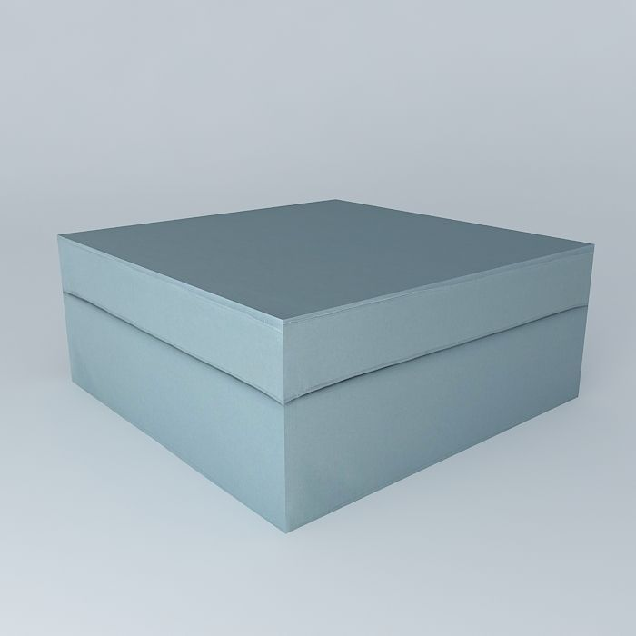 pouf enzo blue gray linen houses the world 3d model max. Black Bedroom Furniture Sets. Home Design Ideas