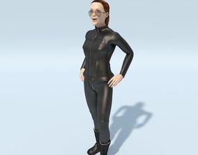 3D model FREE Angelina Jolie Biker Suit Black