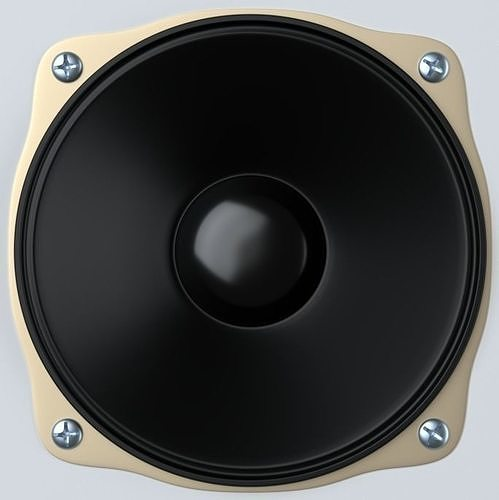 loudspeaker 3d model obj mtl fbx blend x3d 1