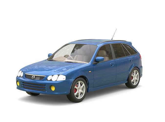 mazda familia s-wagon 3d model low-poly max obj mtl fbx c4d 1