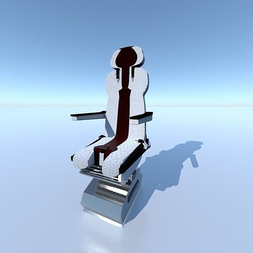 aircraft airplane pilot seat chair v2 3d model low-poly obj mtl 3ds fbx blend 1