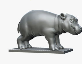 3D printable model funny Little Hippo Baby Sculpture
