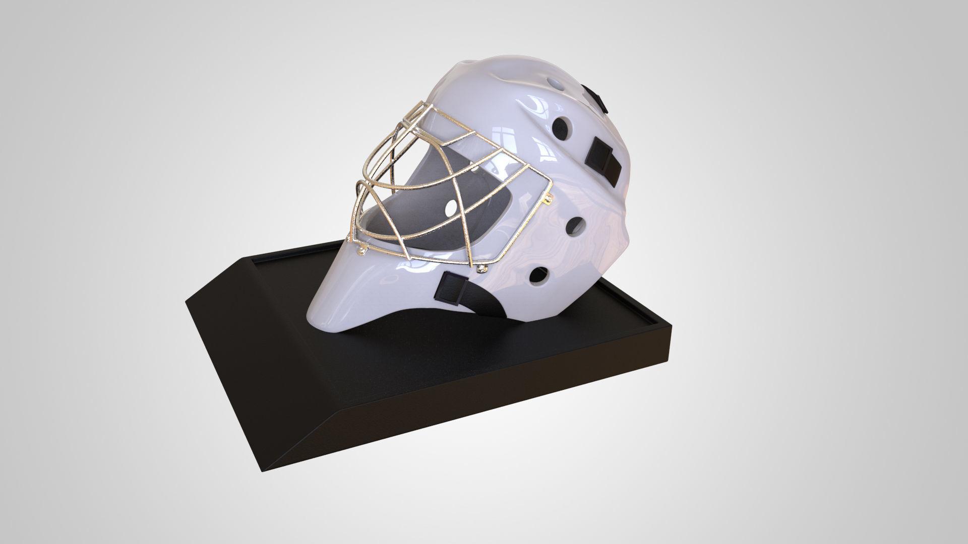 Ice Hockey Goalie Helmet 3d Print High Detail Model