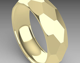 Faceted ring 3D print model