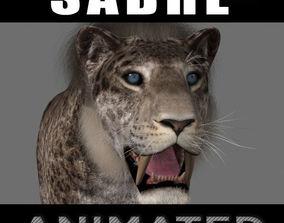 Female Sabretooth - 3d animated model animated