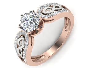 Engagement Ring Two Tone Color 3D print model
