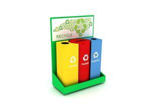 Recycle Bin 3d Model ash-tray VR / AR ready