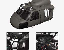 UH-60L Blackhawk Cockpit 3D Model