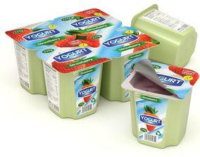 Fruit Yogurt 3D model