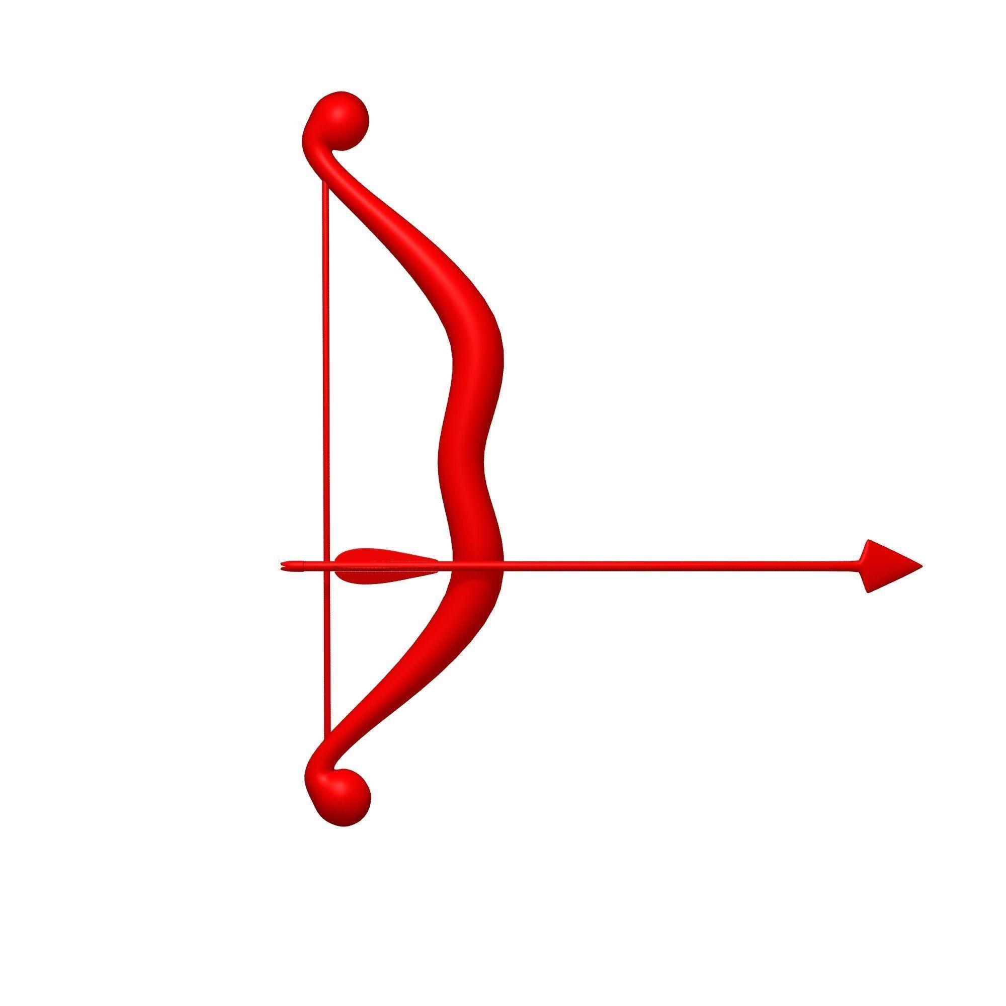 Longbow and Arrow cartoon