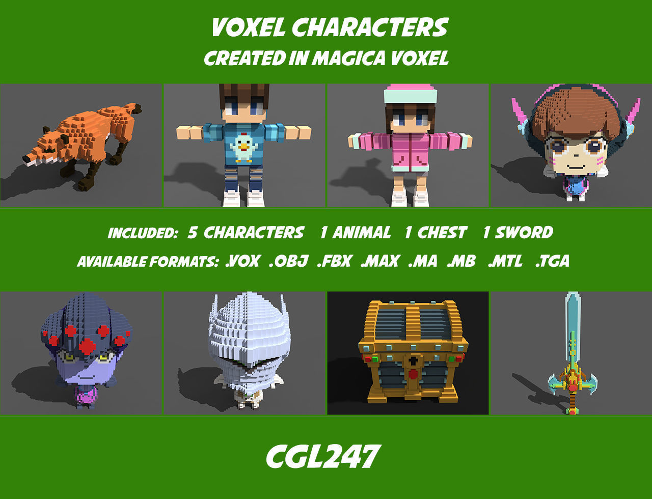 Character Voxel Pack