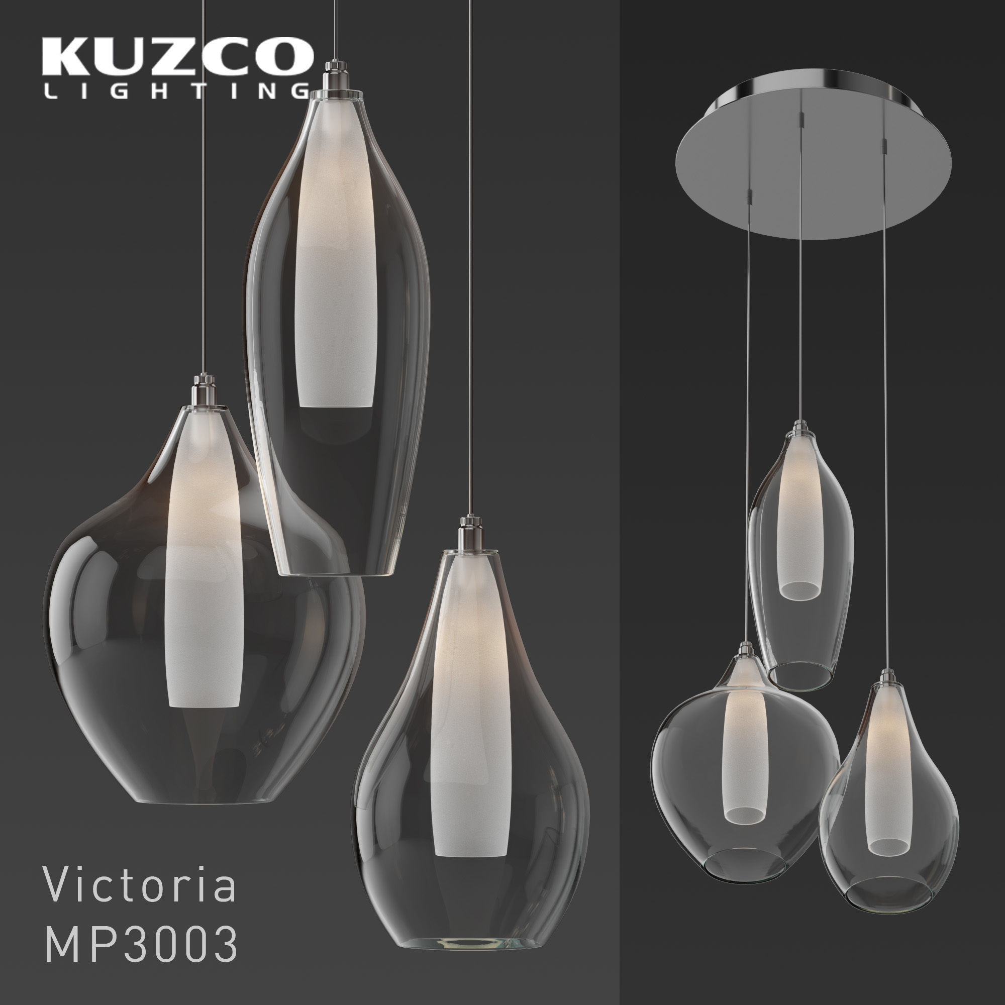 Kuzco Lighting Victoria Mp3003 Pendant Light Model