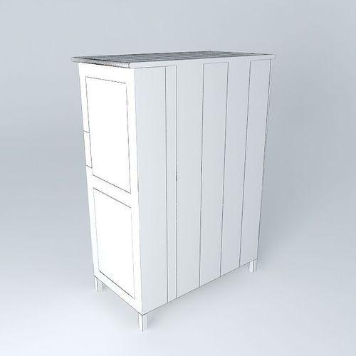 blue cabinet avignon houses the world 3d model max obj 3ds fbx stl dae cgtrader