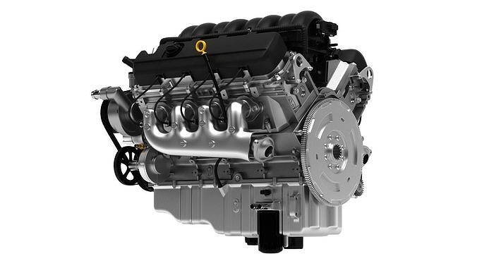 chevy silverado 2014 v8 engine 3d model 3d model max 1
