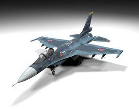 F-2A Lowpoly 3D model