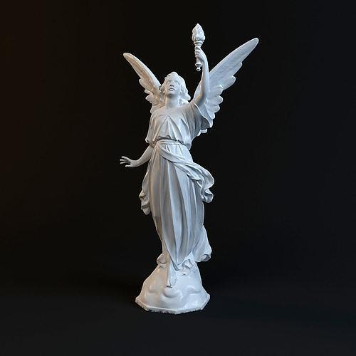 goddess statue  3d print model 3d model max obj mtl fbx stl 1