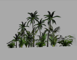 jungle backround game-ready 3d model