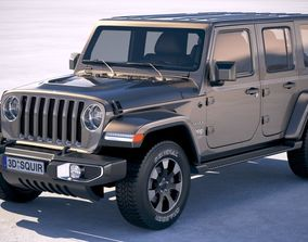 3D Jeep Wrangler Unlimited Sahara 2018