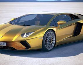 3D Lamborghini Aventador S 2017