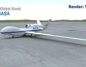 RQ-4A Global Hawk NASA 3D model