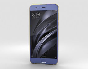 Xiaomi Mi 6 Blue 3D model