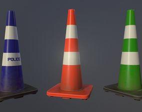 3D asset Road Cone