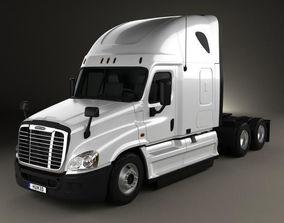 Freightliner Cascadia Sleeper Cab Tractor Truck 2007 3D