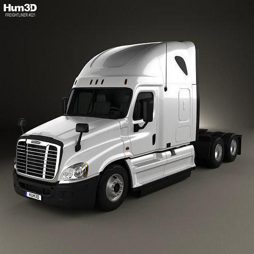 freightliner cascadia sleeper cab tractor truck 2007 3d model max obj mtl 3ds fbx c4d lwo lw lws 1