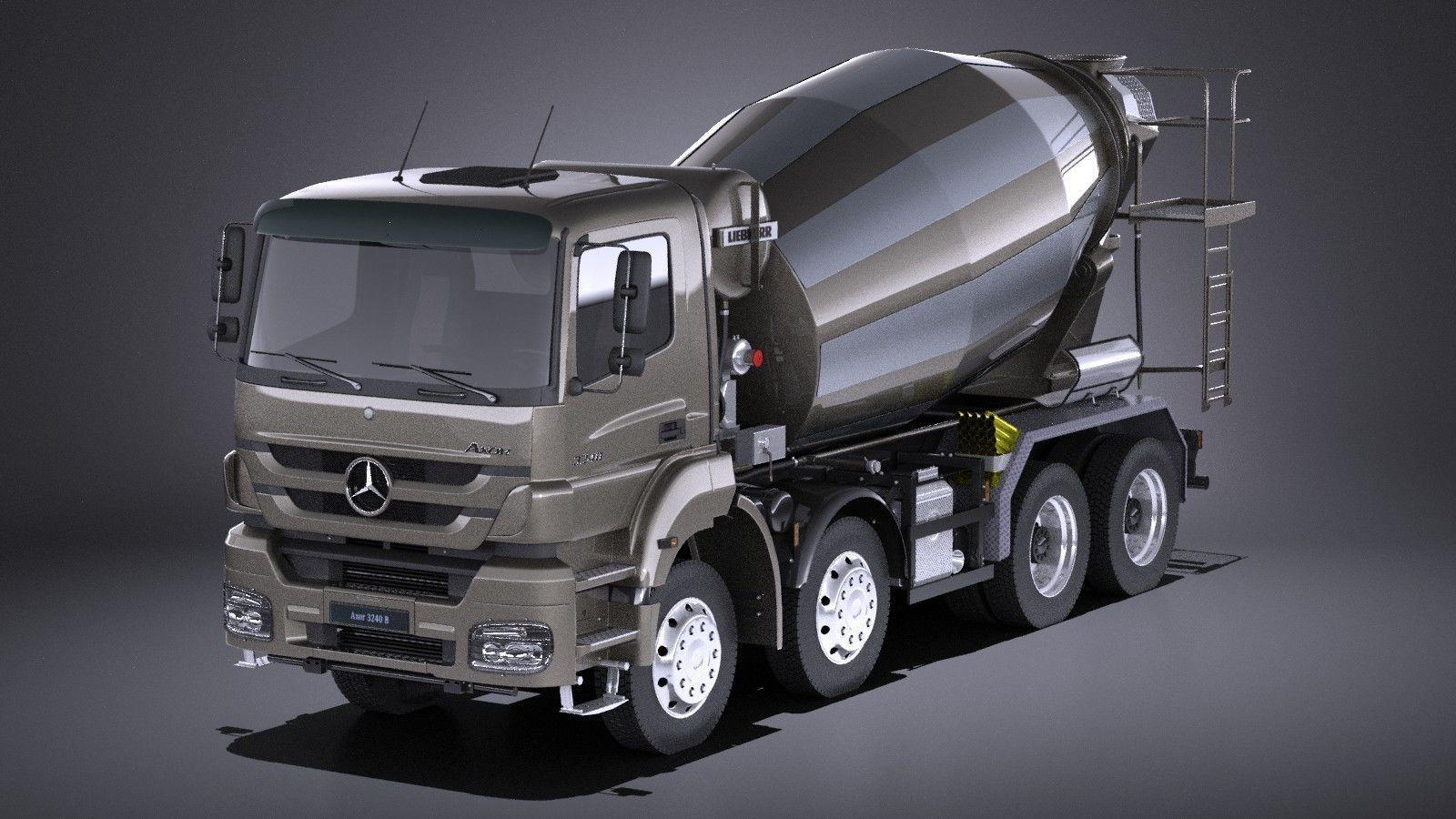 Mercedes-Benz Axor 3240B Cement Mixer 2017 VRAY