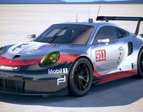 Porsche 911 RSR 2017 3D