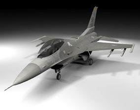 3D asset F-16C Fighting Falcon Lowpoly