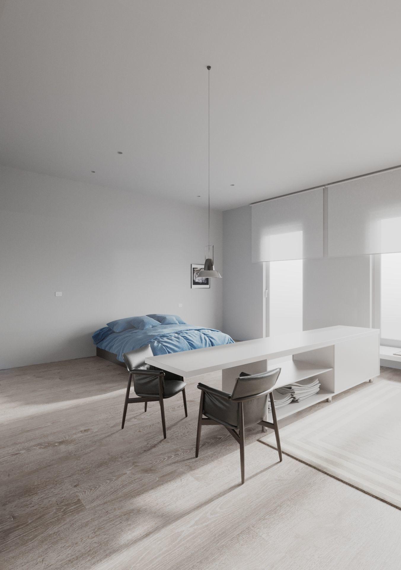 Minimalist Apartment scene for Cinema 4D and Corona Renderer