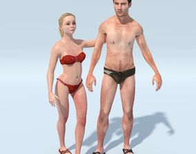 FREE Nude Couple - Ava and Gristov 3D model