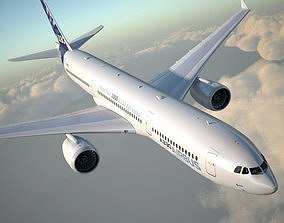 Airbus a330-300 with interior 3D model